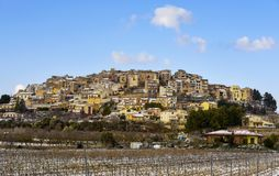 Panoramic view of Horta de Sant Joan, Spain Royalty Free Stock Images