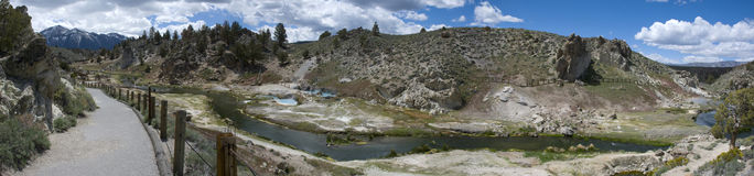 Panoramic view of a hot spring near Mono Lake, California Royalty Free Stock Photos