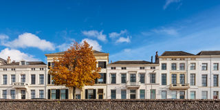 Panoramic view of houses in the Dutch city of Zutphen Stock Image