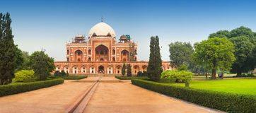 Panoramic view of Humayun`s Tomb Royalty Free Stock Photography