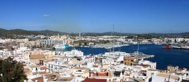Panoramic view of Ibiza town Royalty Free Stock Photos