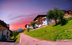 Panoramic view of idyllic summer landscape in the Alps Stock Images