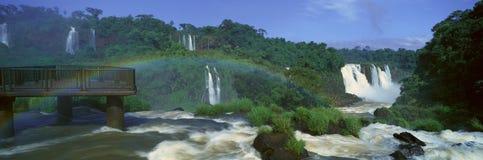 Panoramic view of Iguazu Waterfalls in Parque Nacional Iguazu, Salto Maria to Argentina Stock Image