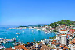 Panoramic view. Image of the city of Split, Croatia Stock Photo
