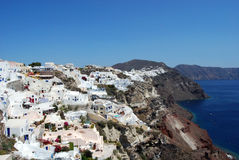 Panoramic view of Imerovigli Santorini Greece Royalty Free Stock Photo