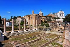 Panoramic view of Imperial forum - Rome, Italy Royalty Free Stock Photography
