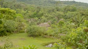 Panoramic View Of An Indigenous Community In The Amazon Rainforest
