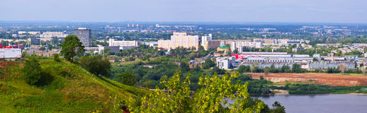 Panoramic view of  industry district at Nizhny Novgorod Stock Photo