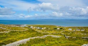 Panoramic view in Inishmore, Aran Islands, Ireland. royalty free stock photography