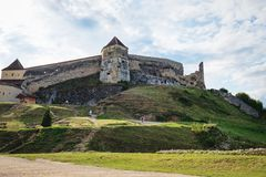 Rasnov Fortress in Romania royalty free stock photography