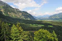 Panoramic view into the inntal valley tirol austria Stock Photography
