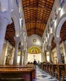Panoramic view of Interiors of church of Saint Joseph in Nazareth stock photography
