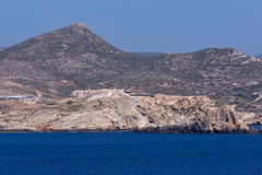 Panoramic view of Ios island in Aegean sea, Greece Stock Image
