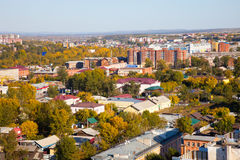 Panoramic view of the Irkutsk, Russia. Stock Images