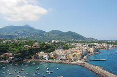 Panoramic view of Ischia island royalty free stock photos