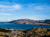 Panoramic view of Isla del sol - Bolivia (Island of the sun) Royalty Free Stock Images