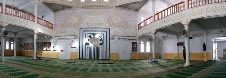 Panoramic view of islamic mosque Stock Image