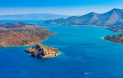 Island of Spinalonga, Crete, Greece Royalty Free Stock Photography