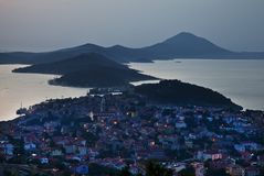 Losinj, Croatia. Panoramic view on island Losinj ,Croatia-Europe Royalty Free Stock Images
