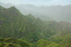 Panoramic view of island of Santo Antao, Cape Verde Stock Images