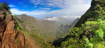 Panoramic view of island of Santo Antao, Cape Verde Royalty Free Stock Photo