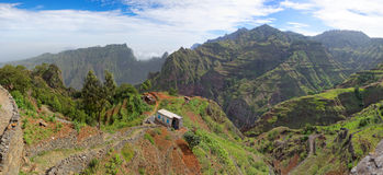 Panoramic view of island of Santo Antao, Cape Verde Stock Photos