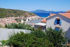 Panoramic view at island Susak in Croatia Royalty Free Stock Image