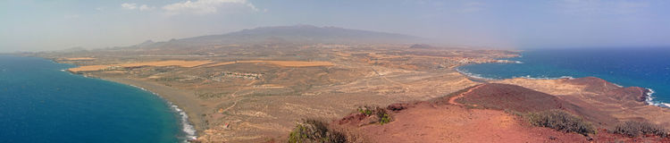Panoramic view of the island of tenerife Royalty Free Stock Photography