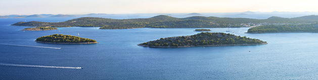 Panoramic view of islands of Croatia Royalty Free Stock Image