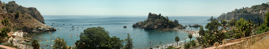 Panoramic view of Isola Bella (Beautiful island): small island n Stock Images