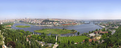 Panoramic view of Istanbul Royalty Free Stock Photos