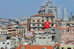 Panoramic view of Istanbul city Royalty Free Stock Images