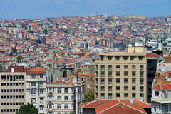 Panoramic view of Istanbul city Stock Image