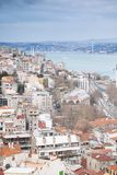 Panoramic view of Istanbul from Galata tower, Turkey Royalty Free Stock Photography