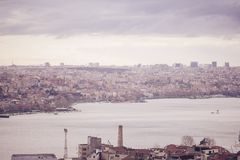 Panoramic view of Istanbul from Galata tower, Turkey Royalty Free Stock Image