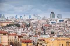 Panoramic view of Istanbul from Galata tower, Turkey Royalty Free Stock Photo