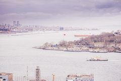 Panoramic view of Istanbul from Galata tower, Turkey Stock Photo
