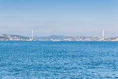 Panoramic view of Istanbul. Panorama cityscape of famous tourist destination royalty free stock photos