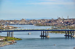Panoramic view of Istanbul from Pierre Loti hill stock photo