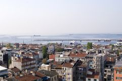 Panoramic view of Istanbul roofs Royalty Free Stock Photo