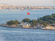 Panoramic view of Istanbul at the sunset stock photography