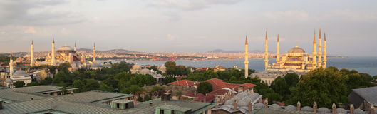 Panoramic view of Istanbul, Turkey. Elevated panoramic view of Istanbul, Turkey Stock Image