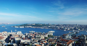 Panoramic view of Istanbul, Turkey Royalty Free Stock Photo