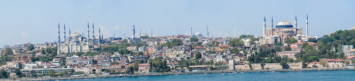 Panoramic view at Istanbul, Turkey. Stock Images