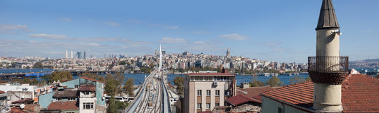Panoramic view of Istanbul, Turkey Royalty Free Stock Photography
