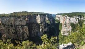 Panoramic view of Itaimbezinho Canyon at Aparados da Serra National Park - Cambara do Sul, Rio Grande do Sul, Brazil Stock Images