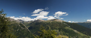 Panoramic view of Italian Alps Royalty Free Stock Image