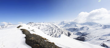 Panoramic view of Italian Alps Royalty Free Stock Photo