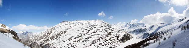 Panoramic view of Italian Alps Royalty Free Stock Photography