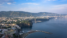 Panoramic view of Italian coast near Sorrento Stock Images
